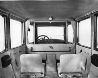 1918 Packard imperial limousine, view of interior from back seat, side-folding auxiliary seats visible