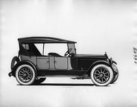 1918 Packard two-toned phaeton, nine-tenths front right view, top raised