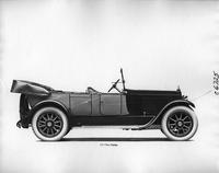1918 Packard two-toned touring car, right side view, top folded