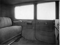 1918-1919 Packard landaulet, view of rear interior through right rear door