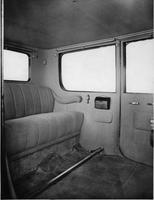 1918-1919 Packard imperial limousine, view of rear interior through left rear door