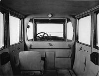 1918-1919 Packard imperial limousine, view of interior from rear seat