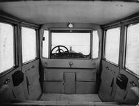 1918-1919 Packard limousine, view of interior from rear seat