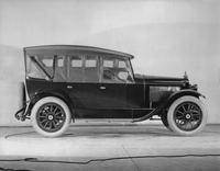 1921-1922 Packard touring car, right side view, top raised, storm curtains in place