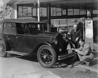 1921-1922 Packard touring car in front of British Columbia Packard dealership