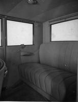 1921-1922 Packard sedan, view of rear interior through left side door