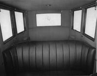 1921-1922 Packard sedan, view of interior through front windshield