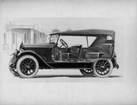 1921-1922 Packard touring car, seven-eights left front cut away view, top raised