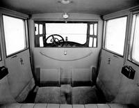 1920-1923 Packard limousine, view of interior from rear seat