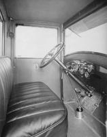 1920-1923 Packard duplex sedan showing steering wheel and instrument panel