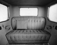 1920-1923 Packard duplex sedan, view of rear interior, showing rear bench seat