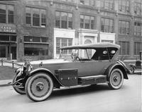 1920-1923 Packard touring car built for Marylin Miller, in front of Packard offices