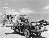 "1920-1923 Packard special MGM camera car on location for ""The Wind"""