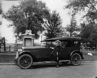1922-1923 Packard touring car at Fireman's Monument, St. Joseph, Mich.