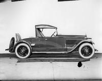1923 Packard runabout, right side view, top raised, rumble seat open