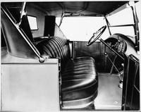 1924 Packard runabout interior, through right door, top raised