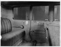1924 Packard sedan, view of rear interior through left side door