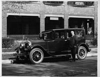 1924 Packard sedan, parked in front of John W. Radke Funeral Home, Milwaukee, Wis.