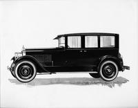 1924 Packard sedan limousine, nine-tenths left front view, catalog rendering