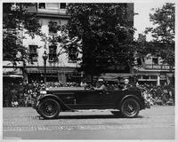 1925-1926 Packard touring car with Chief Justice Huges in 1927 parade honoring Charles Lindbergh
