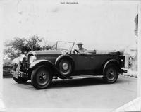 1925-1926 Packard touring car, owner Paul Berlenbach at wheel