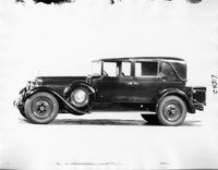 1926 Packard all weather town cabriolet, left side view, spare and trunk have leather covers