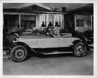 1927 Packard two-toned runabout with actress Olive Borden and actor Neil Hamilton