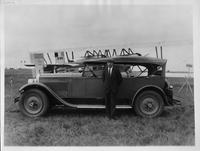 1927 Packard phaeton, owner Mr. Sikorsky standing at driver's door