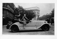 1927 Packard special runabout with Mrs. Walter Powers in Paris, France