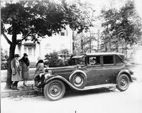 1927 Packard special sedan limousine, chauffeur behind wheel