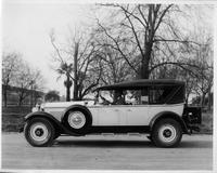 1927 Packard touring car, owner Mr. C.L. Best behind wheel in Oakland, Calif.
