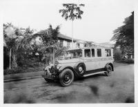 1927 Packard special ambulance parked on street