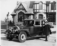 1927 Packard club sedan with owner John A. Malone of Milwaukee