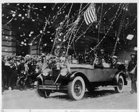 1927 Packard touring car carrying Commander Richard E. Byrd in New York City parade