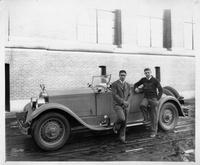 1927 Packard runabout with University of Michigan football team captains