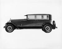 1927 Packard custom body sedan, left side view