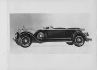 1927 Packard sport phaeton, nine-tenths left front view, top lowered
