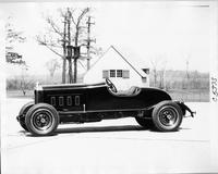 1928 Packard special roadster, left front view, at the Packard Proving Grounds