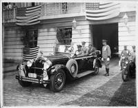 1928 Packard with Col. Charles Lindbergh on visit to Governor Towner of San Juan, Puerto Rico