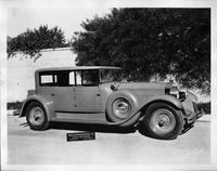 1928 Packard Murphy clear vision sedan, five-sixths right front view