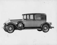 1928 Packard club sedan, left side view