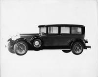 1928 Packard sedan limousine, seven-eights left front view