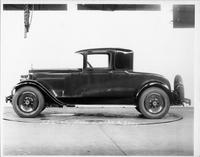 1928 Packard coupe, left side view