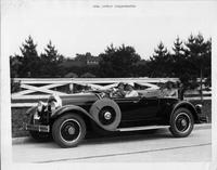 1929 Packard runabout with Mrs. Arthur Langenderfer and guests