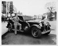 1929 Packard with special searchlight for Brooklyn Fire Department mounted on rear
