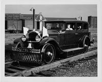 1929 Packard custom sedan made to run on railroad tracks