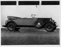 1929 Packard convertible victoria, nine-tenths right front view, top folded