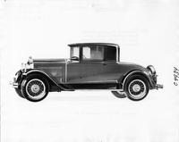 1929 Packard coupe, nine-tenths left side view
