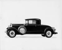 1929 Packard coupe, left side view