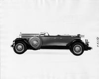 1929 Packard sport phaeton, left side view, top folded